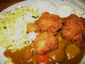 Chicken Curry and Lahaina Fried Chicken