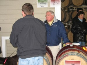 Vincent Arroyo at Barrel Sampling Party in 2008