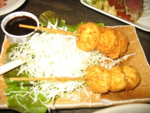 Deep fried quail eggs