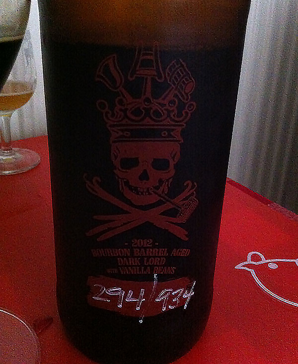 Three Floyds Bourbon Barrel Aged Dark Lord With Vanilla Beans (2012)