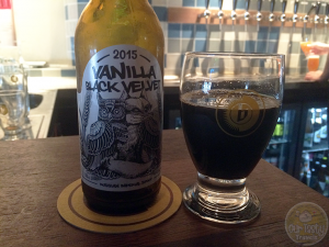 21-Aug-2015: Vanilla Black Velvet (2015) by Cervesa Guineu and La Quince from Toroella, near Barcelona, Spain. Russian Imperial Stout with a great vanilla aroma and flavor. Even a little bitter. Thick, almost syrupy. Delicious! #ottbeerdiary