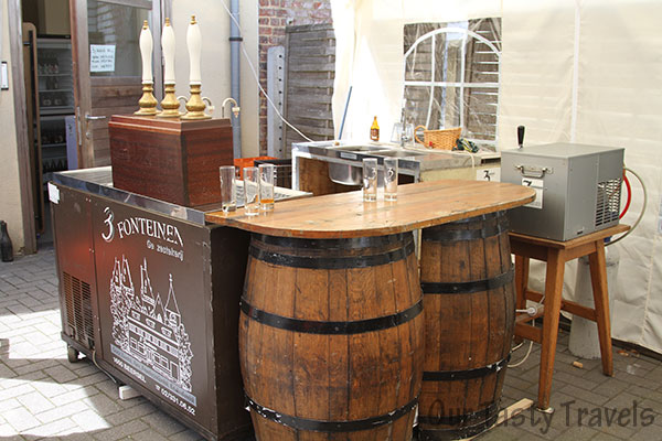 Tasting Bar at 3 Fonteinen Open Beer Days  http://ourtastytravels.com/blog/3-fonteinen-brewery-open-beer-days-in-belgium/ #beer #belgium #ourtastytravels
