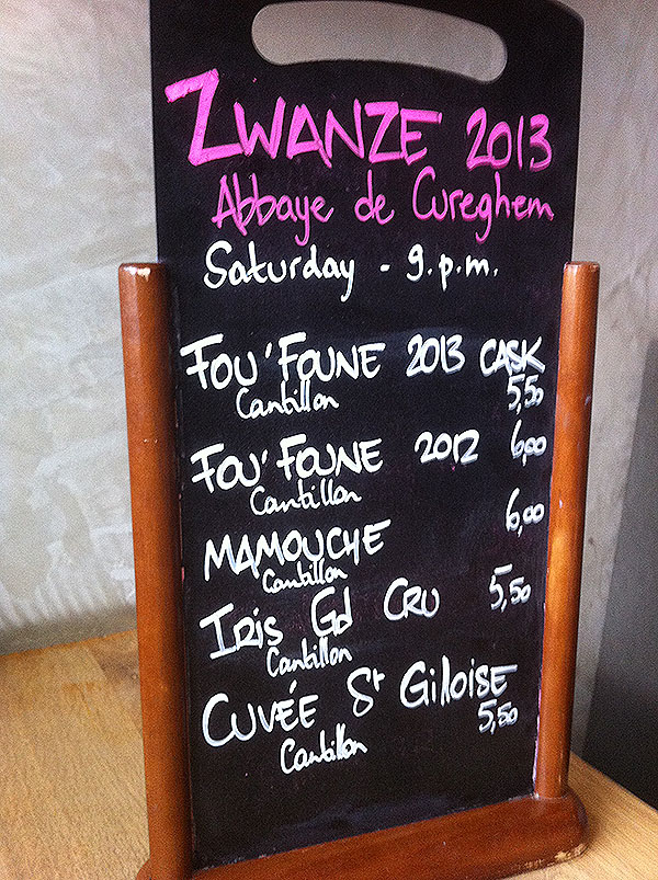 Cantillon Selection on Draft at Zwanze Day 2013 at Moeder Lambic in Brussels