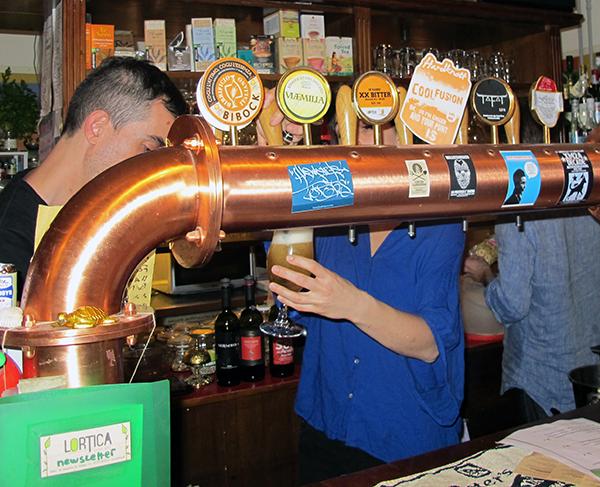 Beer Taps at Lortica