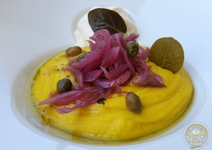 Assyrtico Fava Puree http://ourtastytravels.com/blog/eat-santorini-assyrtico-wine-restaurant-fira/ #food #travel #santorini #greece #ourtastytravels #ottmed14