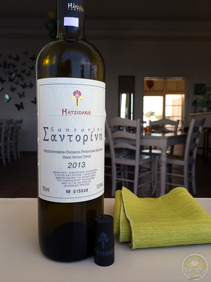 Assyrtiko Wine http://ourtastytravels.com/blog/eat-santorini-assyrtico-wine-restaurant-fira/ #wine #travel #santorini #greece #ourtastytravels #ottmed14