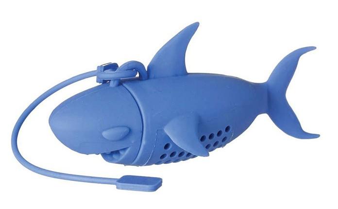 Blue Shark Tea Infuser http://ourtastytravels.com/blog/shark-related-food-wine-products-get-ready-shark-week/ #shark #sharkweek #ourtastytravels #tea