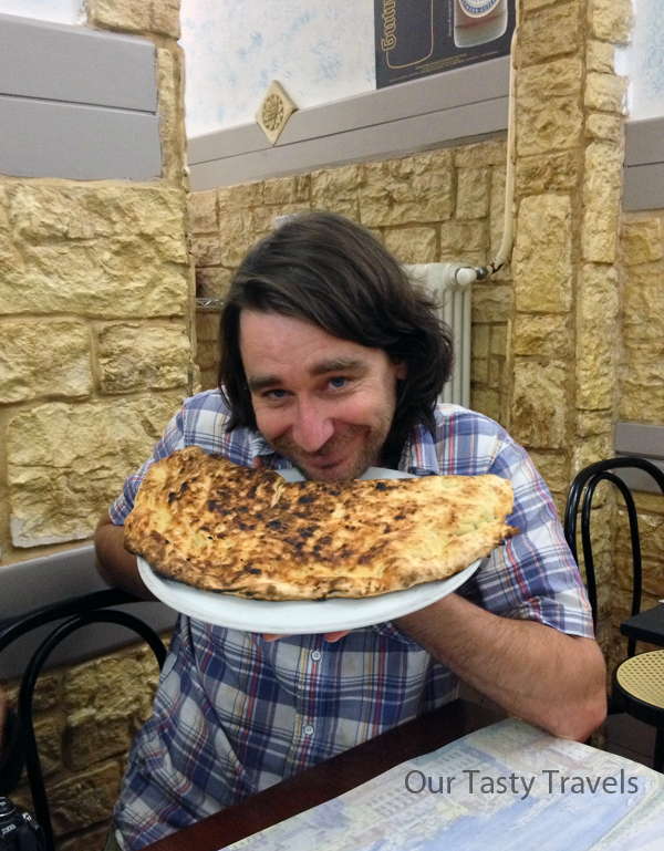 Told you the calzone was massive - Randy from BeersandBeans.com did an awesome job devouring most of it I believe.
