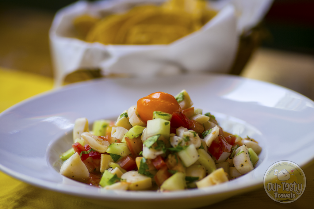 Conch Ceviche at Elvi's Kitchen in San Pedro, Belize - ourtastytravels.com