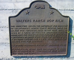 Hop Kiln is a California Historic Landmark