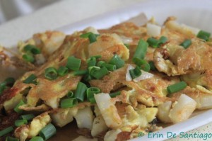 Singaporean fried white carrot cake