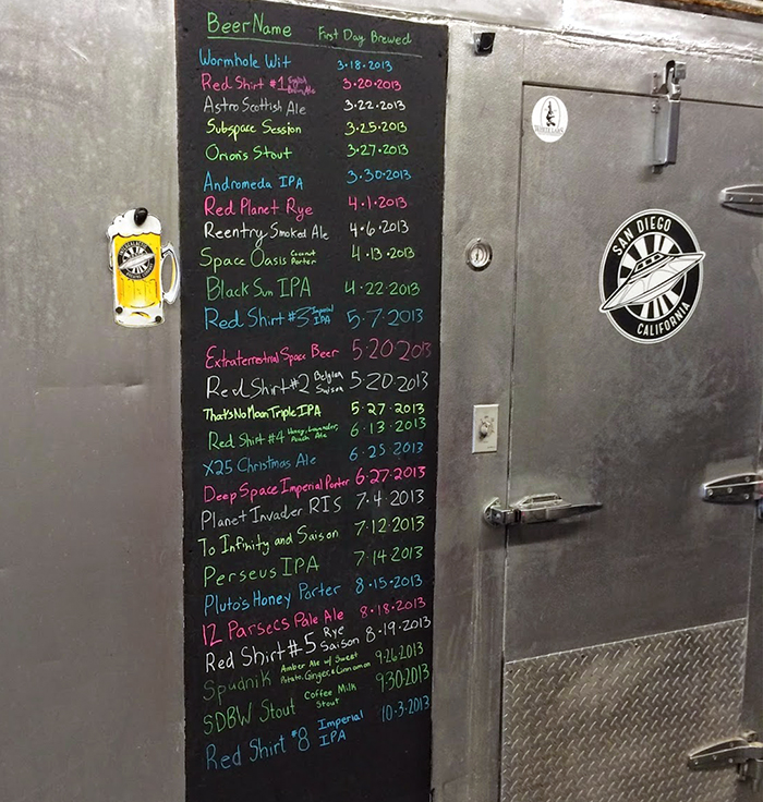 Historical Beer List at Intergalactic Brewing Company