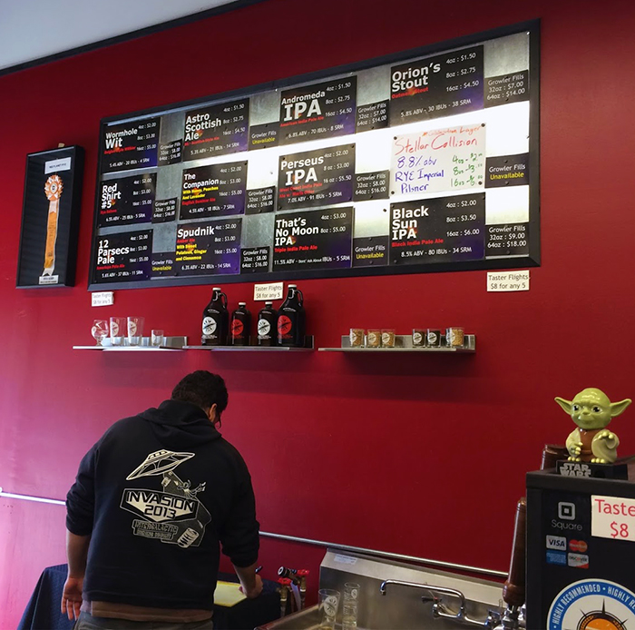 Beers on Tap at Intergalactic Brewing Company