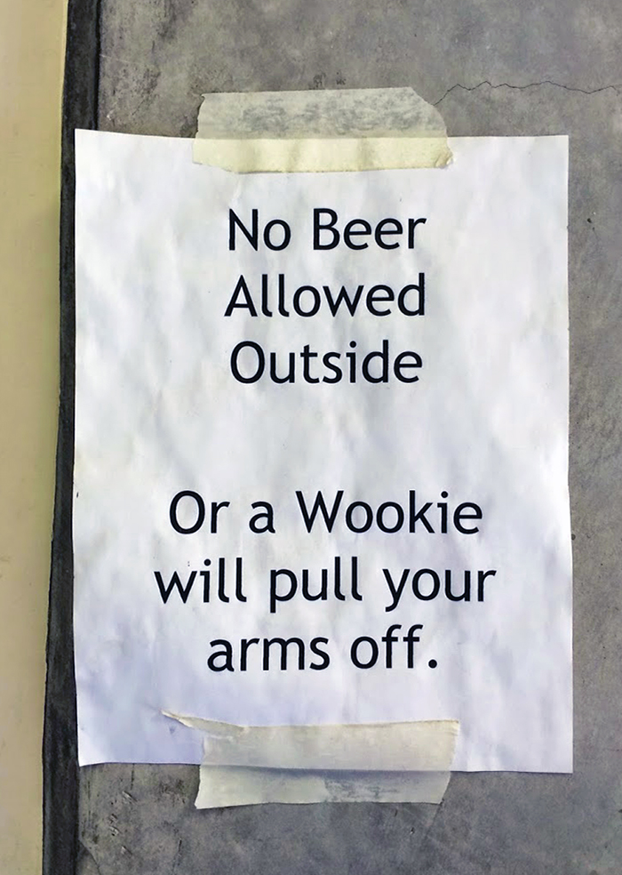 Be sure not to stray outside of the tasting room...