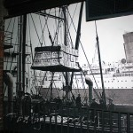 Picture on wall showing old Jameson shipments