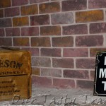 Old Jameson Whiskey sign and box