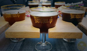 Galopins (16 cl) glasses are the size of the Rochefort Beers in the sampling trio