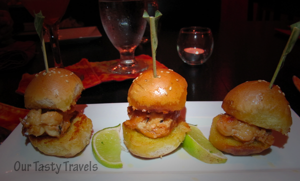 Lobster Sliders at Casa Picasso on Ambergris Caye, Belize.