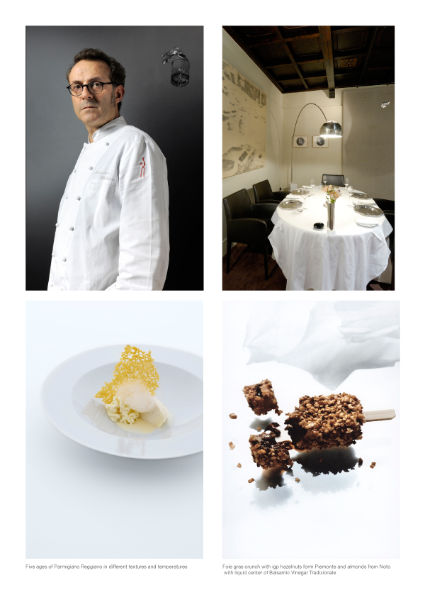 "Osteria Francescana in Modena, Italy is no. 3 restaurant on ""World's 50 Best List"" and holds 3 Michelin stars"