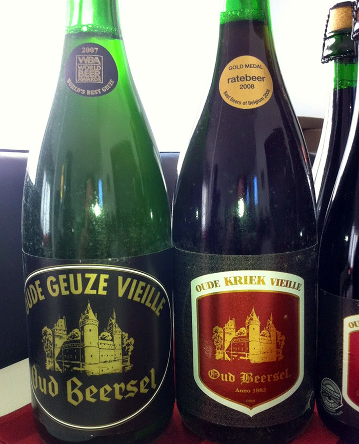 Oud Beersel Kriek and Geuze