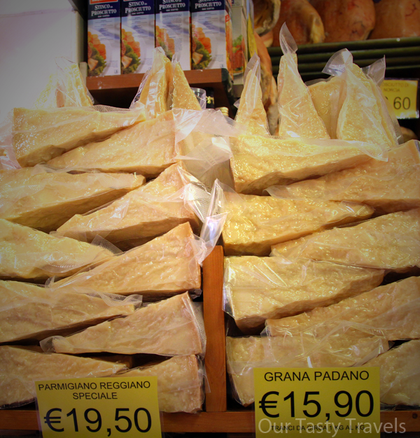 Parmigiano Reggiano is one of the highly controlled products from Emilia Romagna, Italy