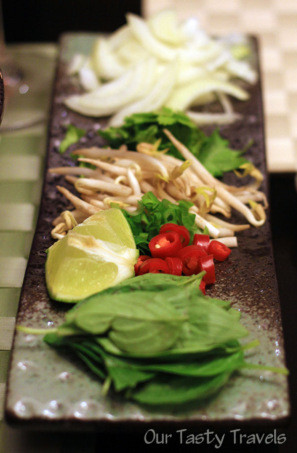 Garnishes for the homemade Pho http://ourtastytravels.com/blog/asian-cooking-at-home-vietnamese-pho-recipe/ #recipe #ourtastytravels