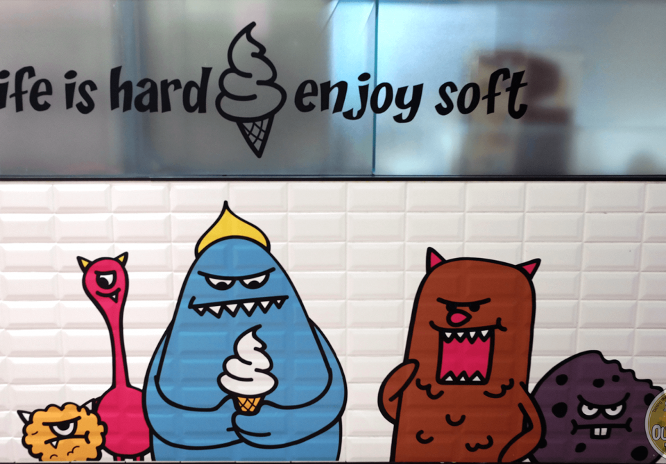 Korea's Sweet Monster Popcorn Ice Cream in Hong Kong