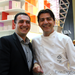 L-R: Executive Chef Angelo Agliano from L'Atelier de Joel Robuchon and Chef Yannick Alleno
