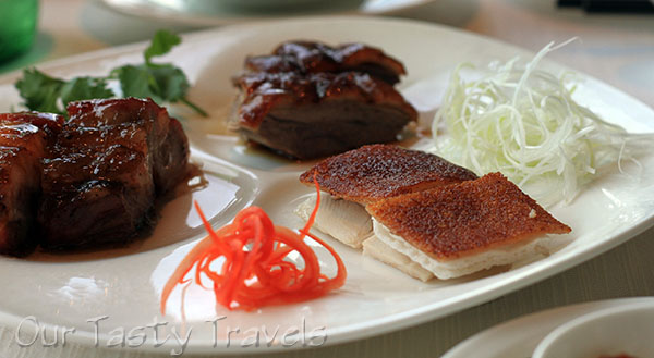Three Meats Barbecue Combo Platter for 2 at Tin Lung Heen http://ourtastytravels.com/restaurants/tin-lung-heen-cantonese-dim-sum-at-the-ritz-carlton-hong-kong/ #ourtastytravels