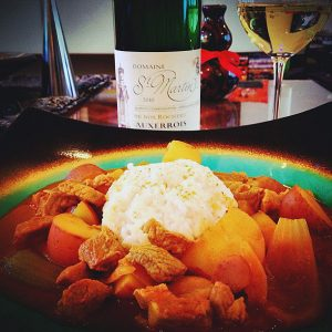 Thai Curry paired with wine