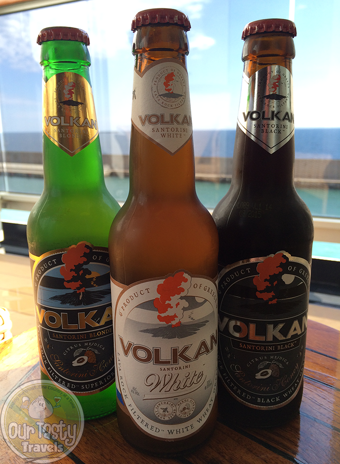 The Beers of Volkan Brewing, Santorini http://ourtastytravels.com/blog/craft-beer-santorini-greece/ #beer #ottmed14 #ourtastytravels