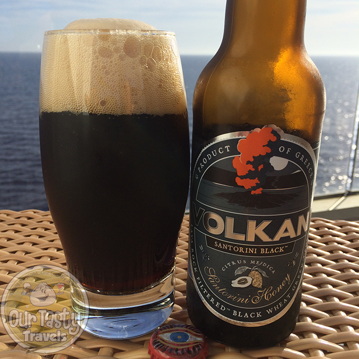 Volkan Santorini Black http://ourtastytravels.com/blog/craft-beer-santorini-greece/ #beer #ottmed14 #ourtastytravels