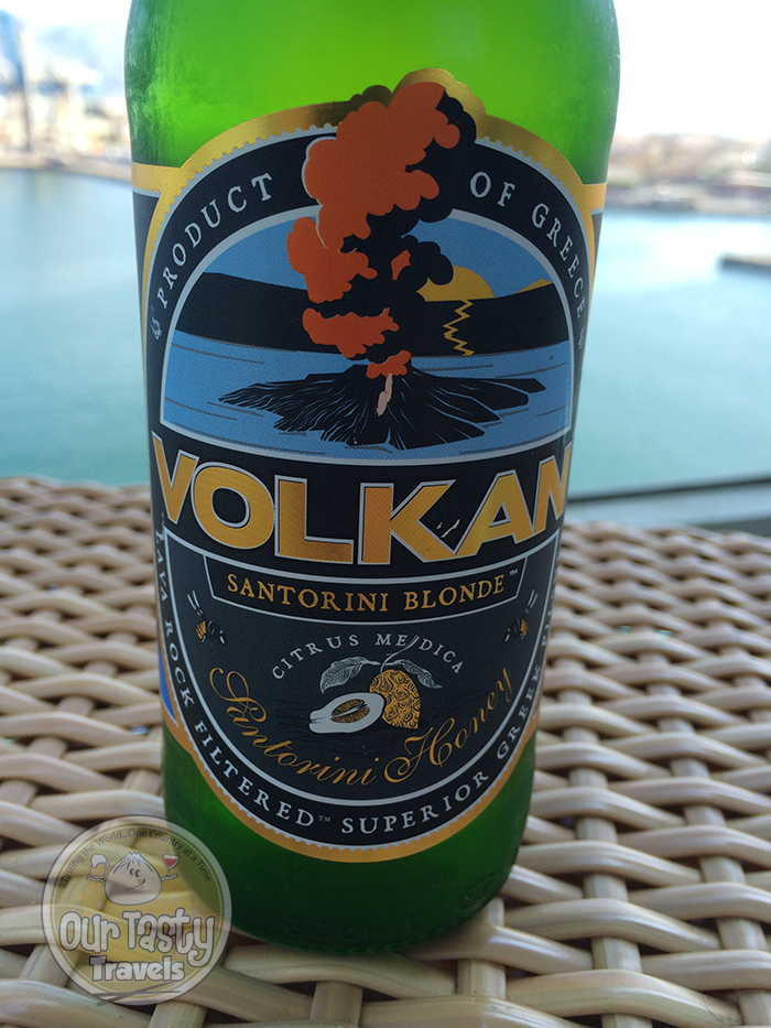 Volkan Santorini Blonde http://ourtastytravels.com/blog/craft-beer-santorini-greece/ #beer #ottmed14 #ourtastytravels