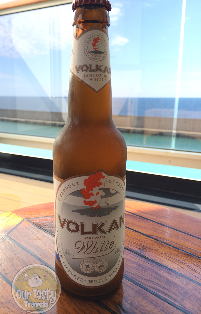 Volkan Santorini White http://ourtastytravels.com/blog/craft-beer-santorini-greece/ #beer #ottmed14 #ourtastytravels