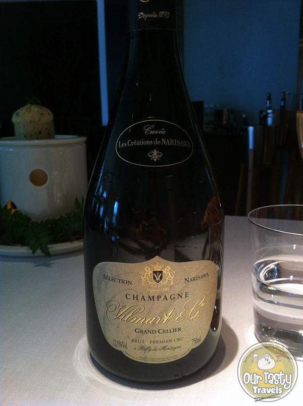 Champagne Vilmart et Cie labeled for Narisawa
