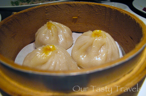 Xiaolongbao from Shanghai Pavilion restaurant at the Shangri-La Hotel in Taipei, Taiwan