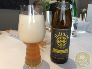 "16-Jun-2015 : Birra Doppia Malto alle Castagne Affumicate e Ginepro by Beltaine. Part of the outstanding drink pairing menu we chose with our lunch at the new world's #2 best restaurant, Osteria Francescana by Chef Massimo Bottura. Beautiful spices in this beer. Paired great with the ""Rice and Polenta that wants to be a Pizza"" dish. #ottbeerdiary"