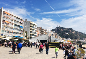 The Birrasana Beer Festival is located right on the sea promenade in Blanes, Spain.