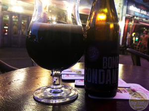 9-Apr-2015 : Bomb Fondant by Brasserie Bours. A local stout from Eindhoven. Decent dark flavors. Bittersweet chocolate notes. #ottbeerdiary