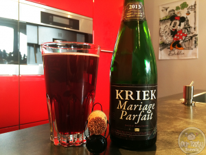 09-Aug-2015: Kriek Marriage Parfait (2013) by Brouwerij Boon. Deep ruby color. Slight medicinal smell. Balanced sour and fruit, a little subdued. Neither overpowers. #ottbeerdiary