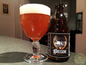 11-Mar-2015 : Tonight's beer of the night. Bressene by Bressene SPRL of Rotheux-Rimiere, Belgium. A fine little blond-Amber beer. Hoppy bitterness. A little spicy. #ottbeerdiary
