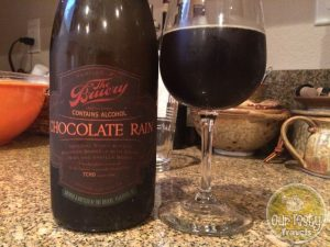 1-Mar-2015 : Chocolate Rain by The Bruery. Black Tuesday W/ Vanilla Bean Cocoa Nibs - One barrel, one day. #ottbeerdiary