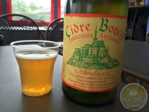 16-May-2015 : Cidre Bouche by Mrs. Lefranc Luc Et Eric. Delicious. Locally produced, served alongside a mound of Moules and Frites in Calvados near Mont Saint Michel. #ottbeerdiary