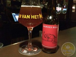 17-Mar-2017 : Den Dorstige Tijger IPA from Ramses Bier of Hooge Zwaluwe in the Netherlands. Centennial Single hopped, and dry hopped to boot. Rather bitter. An amber color without much head. #ottbeerdiary