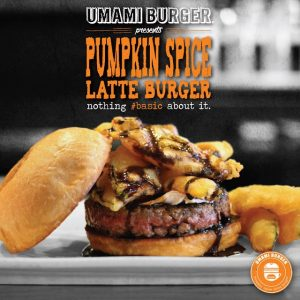 Pumpkin Spice Latte Burger at Umami Burger