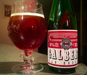 20-Mar-2015 : Tonight's beer is Galbert Van Brugge by 't Brugs Bierinstituut. A Flemish red-brown ale produced at De Proefbrouwerij. Aged eight months in French oak barrels. You definitely get the barrel notes in the flavor. Not very sour, but very enjoyable. Named after an important historical figure of Brugge, as one of the first journalists to appear, as he covered the events surrounding the murder of Charles the Good in 1127. #ottbeerdiary