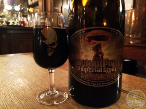 10-April-2015 : Hunahpu's Imperial Stout (2013) by Cigar City Brewing. Great balance in this beer, between the dark flavors and alcohol. Even get plenty of vanilla barrel-type notes, despite this not being a barrel aged edition! Delicious! #ottbeerdiary