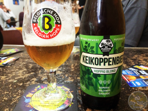 30-Aug-2015: Keikoppenbier by Brouwerij De Plukker of Poperinge, Belgium. While visiting their hop fields. Nice hoppy flavor. Bitter, even a bit spicy. Good body. Very refreshing and drinkable. #ottbeerdiary #ebbc15