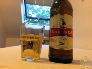 25-Jul-2015 : Koblenzer Pils by Koblenzer Brauerei. It was extremely hard to find any craft beer in town last night. Had hoped for something to unseat this, a decent, basic, Pilsner as the beer of the day. But nothing else new crossed my path! #ottbeerdiary