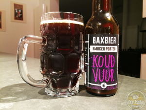 23-Feb-2015 : Koud Vuur by Bax Bier. One of the last beers from my birthday 12-pack. Baxbier's Smoked Porter, Koud Vuur. The smokiness comes from smoked and roasted malts. But not a lot of sweetness under the smoke, so very enjoyable. #ottbeerdiary
